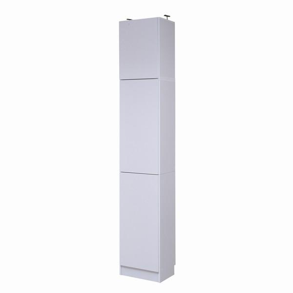 【限定クーポン発行中】 書棚 本棚 『MEMORIA』 深型扉付 幅41.5 上置きセット ホワイト (FRM-0106DOORSET-WH)