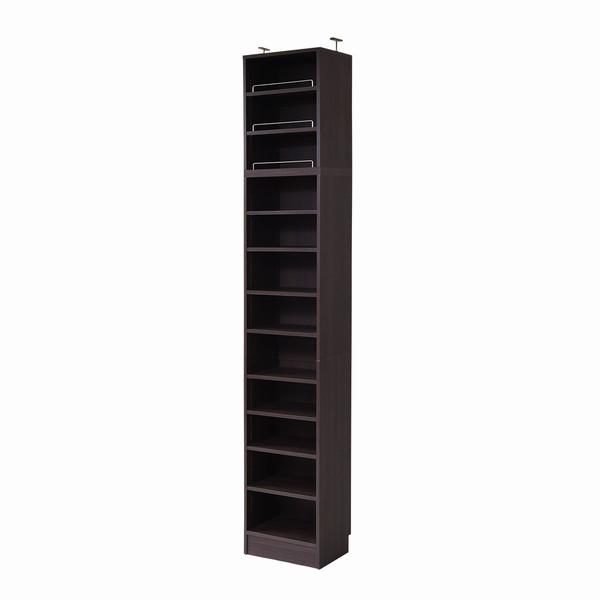 【送料無料】書棚 本棚 幅41.5 深型オープン 上置きセット ダークブラウン MEMORIA (FRM-0106SET-DB)