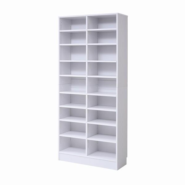 【限定クーポン発行中】 書棚 本棚 『MEMORIA』 深型オープン 幅81 ホワイト (FRM-0107-WH)