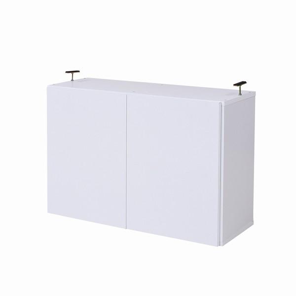【限定クーポン発行中】 【オプション】 書棚 本棚 『MEMORIA』 深型扉付 上置き幅81 ホワイト (FRM-0110DOOR-WH)