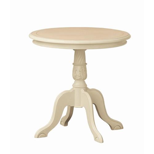 【送料無料】コーヒーテーブル クロシオ 『コモ テーブル』 ホワイト (92168) マホガニー 直径60cm ※北海道・沖縄・離島送料別途見積