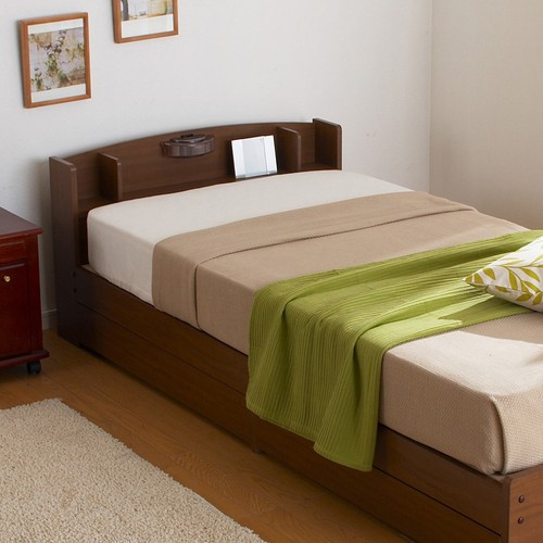 【送料無料】ベッド すのこベッド 照明付き シングル クロシオ 『ECOロングベッド』 (14215) フレームのみ 【北海道・沖縄・離島送料別途見積】