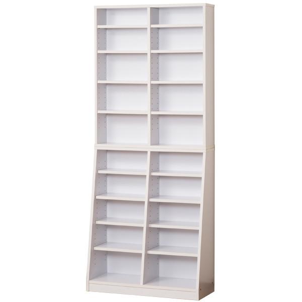 【送料無料】本棚 クロシオ 幅75cm 『SOHO書棚 W75』 ホワイト (31132) 【北海道・沖縄・離島送料別途見積】
