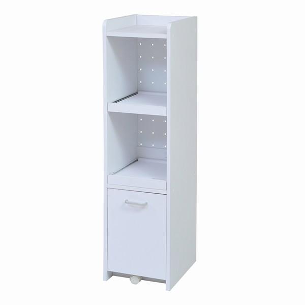 【送料無料】食器棚 隙間収納 隙間ミニキッチン H120 ホワイト (FKC-0531-WH) スリム