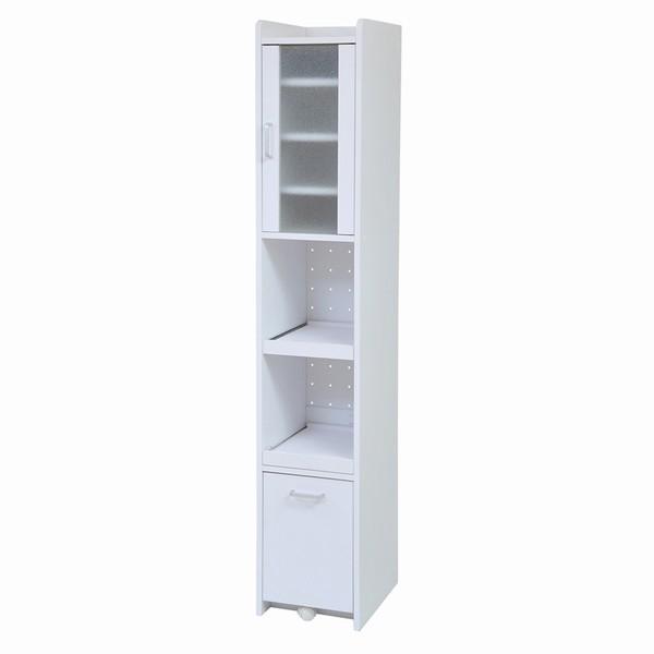 【送料無料】食器棚 隙間収納 隙間ミニキッチン H180 ホワイト (FKC-0533-WH) スリム