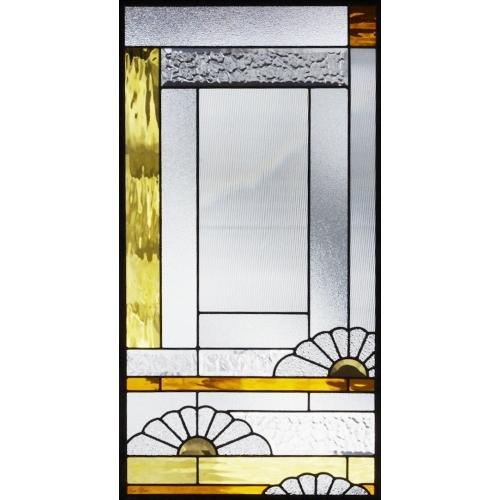 【送料無料】ステンドグラス (SH-A33) 一部鏡面ガラス 913×480×18mm デザイン 和風 ピュアグラス Aサイズ (約13kg) ※代引不可