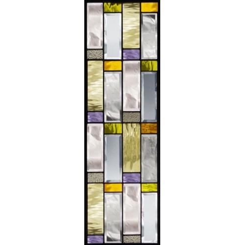ステンドグラス (SH-C19) 927×289×18mm デザイン 幾何学 ピュアグラス Cサイズ (約8kg) メーカー在庫限り ※代引不可