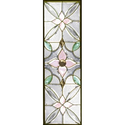 ステンドグラス (SH-C22) 一部鏡面ガラス 927×289×18mm デザイン ピュアグラス Cサイズ (約8kg) ※代引不可
