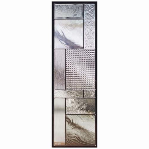 【送料無料】ステンドグラス (SH-C31) 927×289×18mm デザイン モダン クリア ピュアグラス Cサイズ (約8kg) ※代引不可