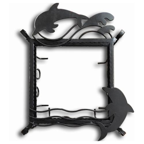 【送料無料】ステンドグラス専用アイアンフレーム 『ピュアデコプラス』 SH-D用 (PDP-J) ブラック イルカ 枠 ※代引不可