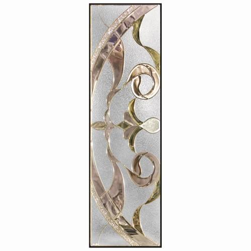 【送料無料】ステンドグラス (SH-B04) 一部鏡面ガラス 1625×480×20mm ピュアグラス Bサイズ (約24kg) 【メーカー在庫限り】 ※代引不可