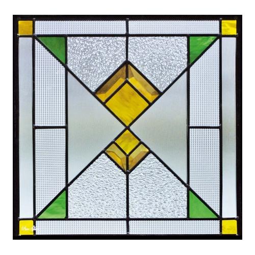 ステンドグラス (SH-F05) 一部鏡面ガラス 400×400×18mm ピュアグラス Fサイズ (約4kg) メーカー在庫限り ※代引不可