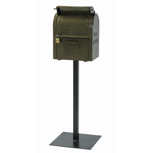 【送料無料】セトクラフト スタンドポスト 『U.S.MAIL BOX』 グリーン (SI-2855-GR-3000) 南京錠付き アメリカン ヴィンテージ風 メールボックス