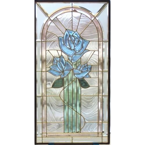 【送料無料】ステンドグラス (SH-A20) 一部鏡面ガラス 913×480×18mm (約13kg) ピュアグラス Aサイズ メーカー在庫限り ※代引不可