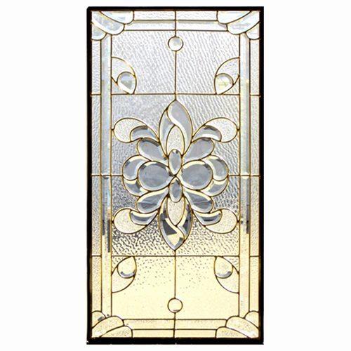 【送料無料】ステンドグラス (SH-A02) 913×480×18mm デザイン ピュアグラス クリア Aサイズ (約13kg) ※代引不可 メーカー在庫限り