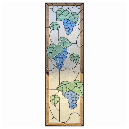 ステンドグラス (SH-B12) 1625×480×20mm デザイン 葡萄 ブドウ ピュアグラス Bサイズ (約24kg) ※代引不可