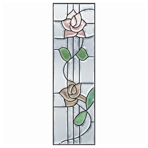 【送料無料】ステンドグラス (SH-C12) 927×289×18mm ローズ 薔薇 ピュアグラス Cサイズ (約8kg) メーカー在庫限り ※代引不可