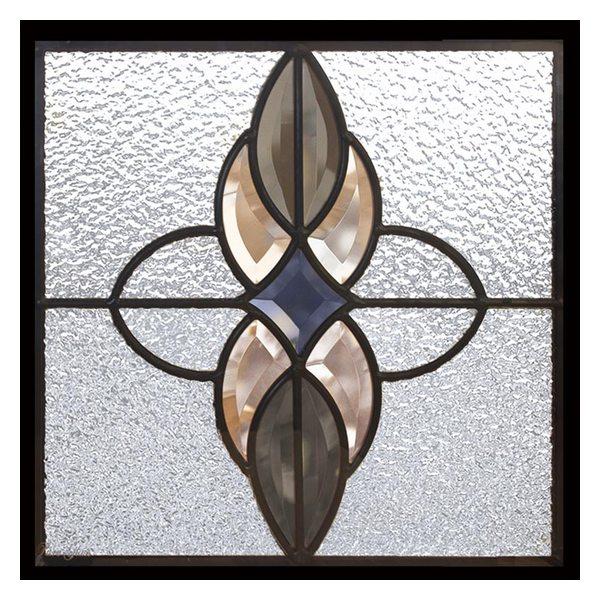 【送料無料】ステンドグラス (SH-E02) 一部鏡面ガラス 300×300×18mm デザイン アンティーク ピュアグラス Eサイズ (約3kg) ※代引不可