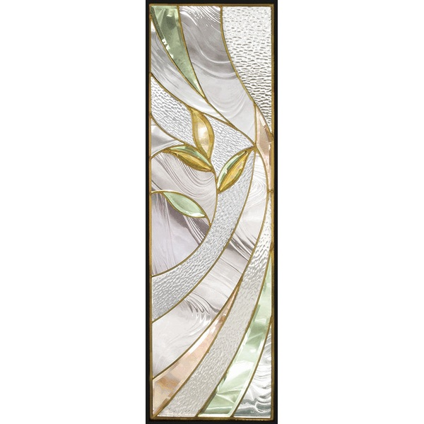 【送料無料】ステンドグラス (SH-C17) 一部鏡面ガラス 927×289×18mm デザイン ピュアグラス Cサイズ (約8kg) ※代引不可