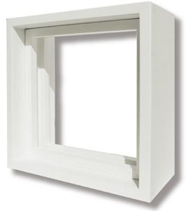 送料無料 代引不可 送料無料カード決済可能 ステンドグラス専用木枠 SH-D用 200角 ランキングTOP5 ※代引不可 ホワイト色 SHF-XD1 室内用