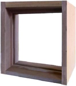【送料無料】ステンドグラス専用木枠 SH-E用 (300角 室内用) タモ集成材 SHF-ZE1 ※代引不可
