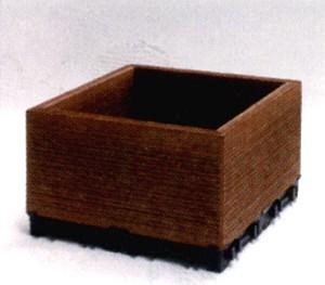 ウッドデッキ 樹脂 人工木 ハンディウッド・置くだけコンテナ ロータイプ 300×300×145mm (2.5kg×2個セット)