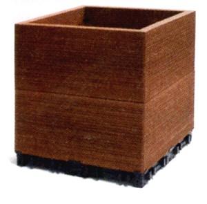 ウッドデッキ 樹脂 人工木 ハンディウッド・置くだけコンテナ ハイタイプ 300×300×290mm (5.0kg)