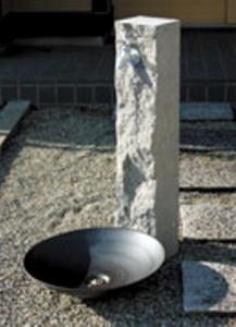 立水栓 水栓柱 ユニット カバー 芦野石タイプ 配管・地中 ANS-3-2 ※パン・蛇口は別売です
