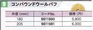 【クーポン配布中!】リョービ PE-1400・PE-2010用コンパウンドウールバフ205 6611981