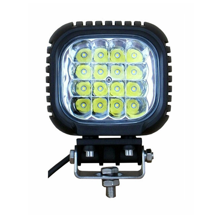 CREE製作業灯 4個 LEDワークライト LED作業灯12v/24v兼用48W16連 集魚灯 看板灯 投光器 サーチライト 48W 304ステンレスブラケット 4800ルーメン