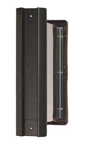2000番ポスト内フタ付気密型真壁(壁厚:95~140ミリ)用タテ型 黒色