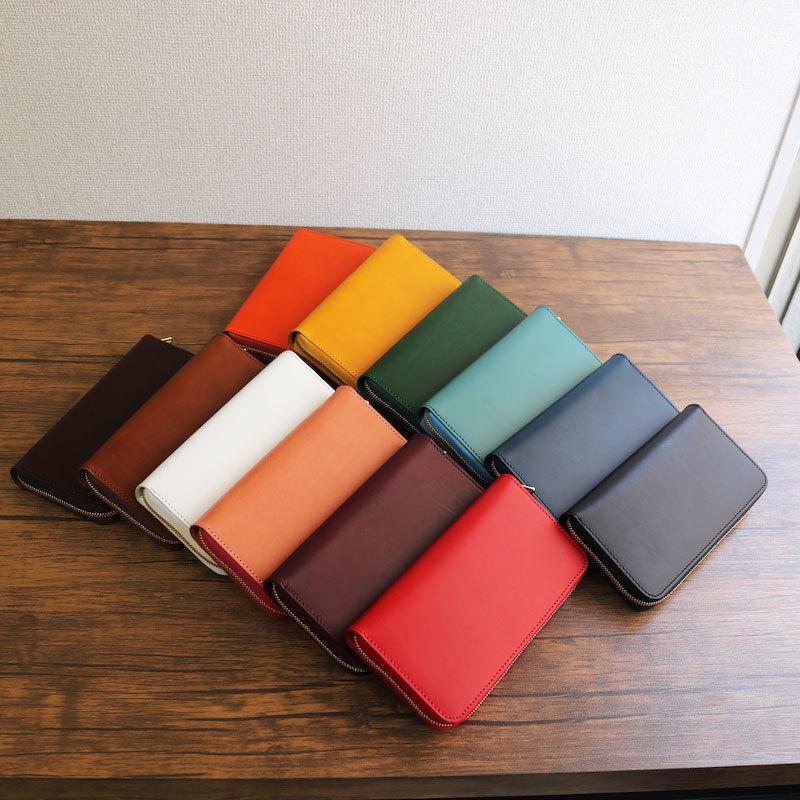 diyplus カードたくさん入る長財布レディース、メンズ 19春夏 イタリアンレザー、カード大容量収納モデル イエロー、オレンジ、レッド、ワイン、ブルー、ブラック、ホワイト、グリーン、ターコイズ、チョコ マチ3.0cm×横20.5cm×高さ11.0cm 300colorzi