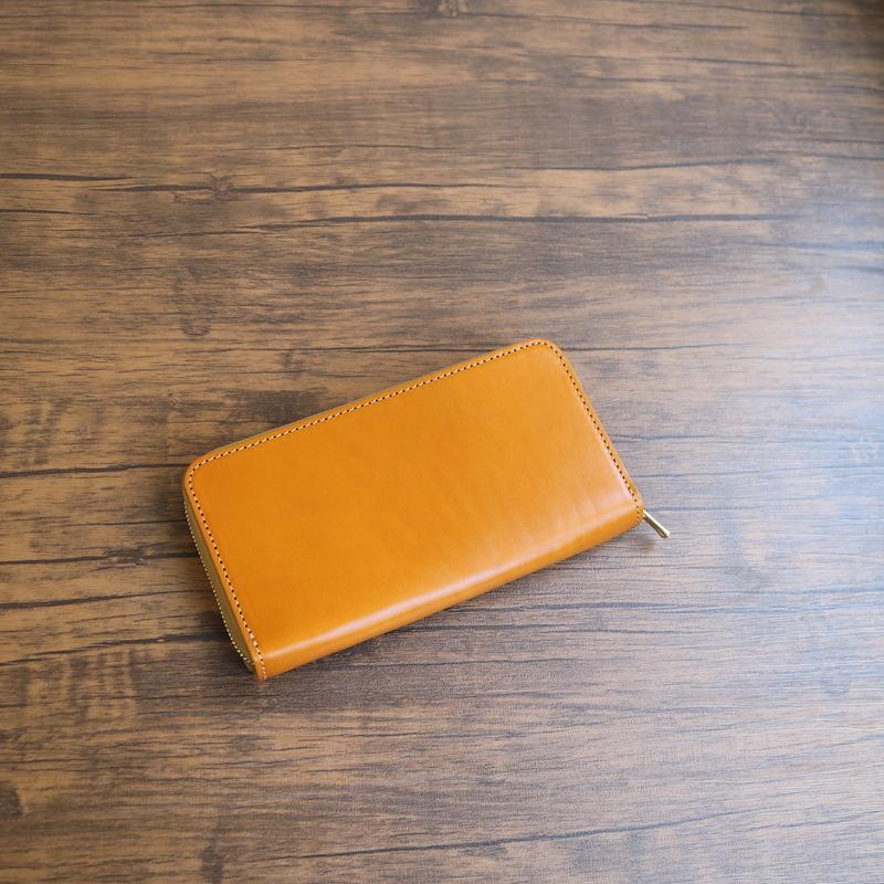 diyplus カードたくさん入る長財布レディース、メンズ 19秋冬 栃木レザー本革、カード大容量収納モデル キャメル 金具ゴールド マチ3.0cm×横20.5cm×高さ11.0cm 200czi