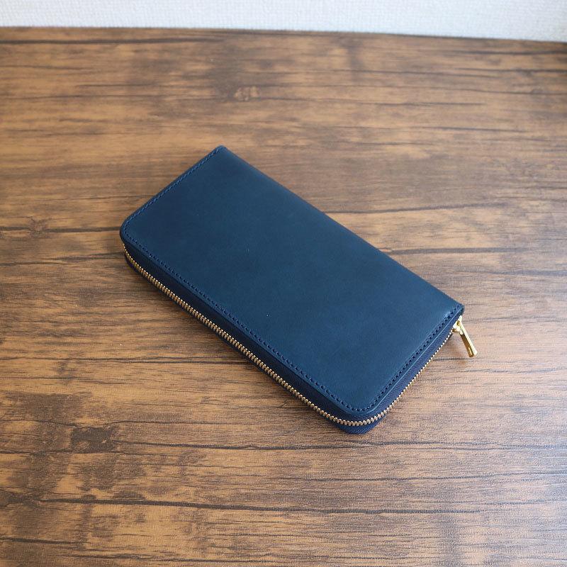 diyplus カードたくさん入る長財布レディース、メンズ 20春夏 イタリアンレザー、カード大容量収納モデル ブルー マチ3.0cm×横20.5cm×高さ11.0cm 300blziバレンタインデー