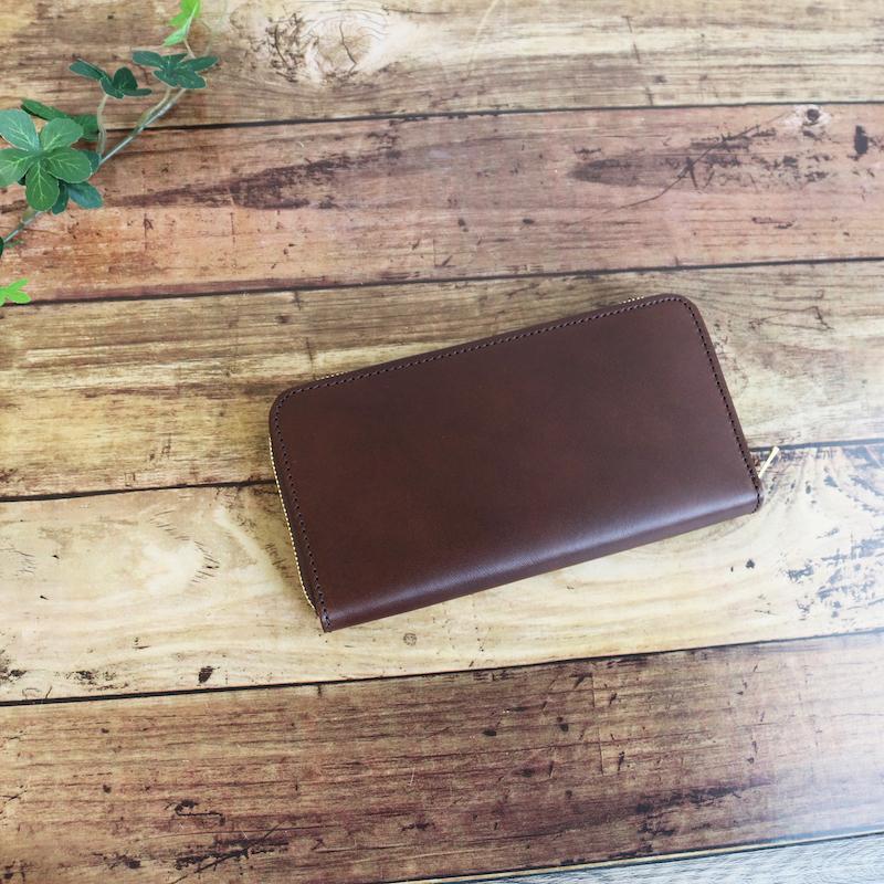 diyplus カードたくさん入る長財布レディース、メンズ 19秋冬 イタリアンレザー、カード大容量収納モデル チョコ マチ3.0cm×横20.5cm×高さ11.0cm 300chzi