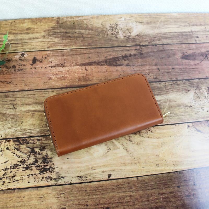 diyplus カードたくさん入る長財布レディース、メンズ 19秋冬 イタリアンレザー、カード大容量収納モデル キャメル マチ3.0cm×横20.5cm×高さ11.0cm 300czi
