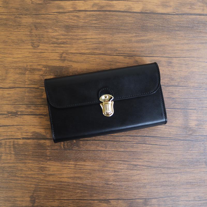 diyplus カードたくさん入る長財布レディース、メンズ 19秋冬 栃木レザー 本革 カード大容量収納モデル ブラック マチ4.5cm×横18.5cm×高さ10.5cm 200bkme
