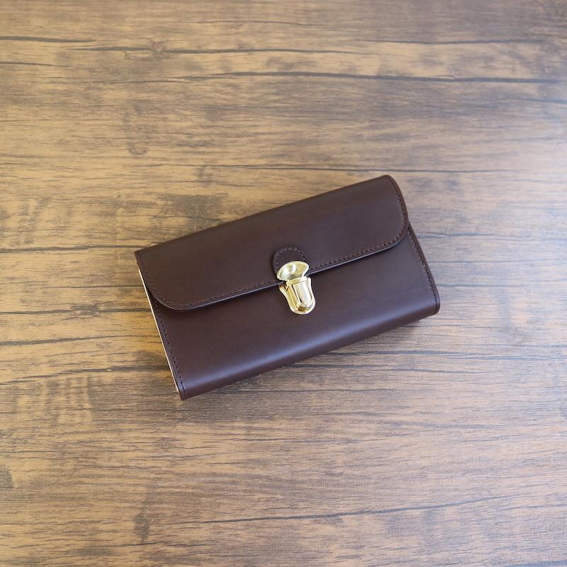 diyplus カードたくさん入る長財布レディース、メンズ 19秋冬 イタリアンレザー ブッテーロ カード大容量収納モデル チョコ マチ4.5cm×横18.5cm×高さ10.5cm 300chme
