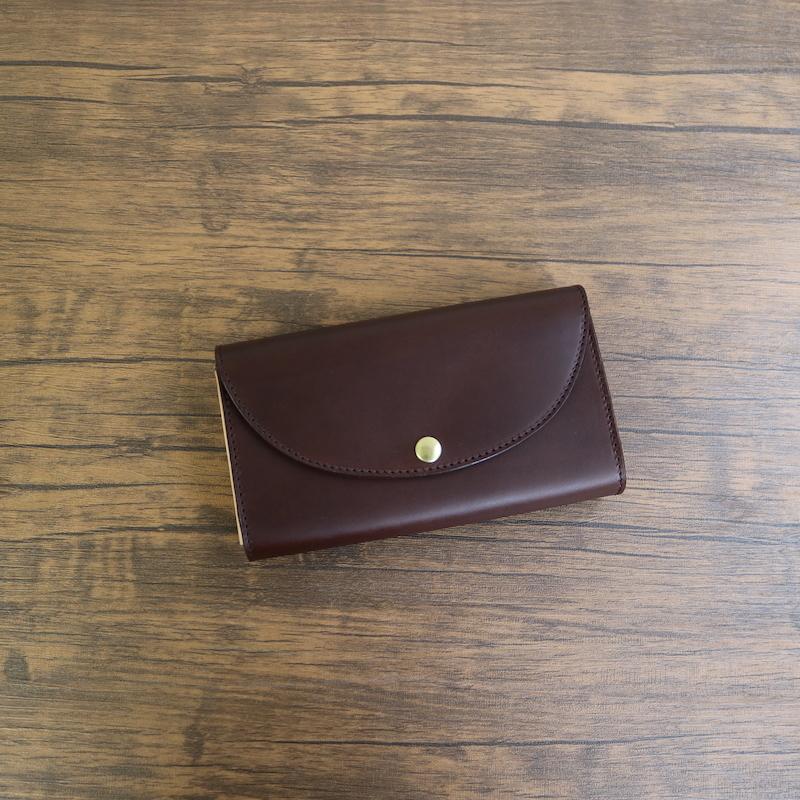 diyplus カードたくさん入る長財布レディース、メンズ 19秋冬 イタリアンレザー、カード大容量収納モデル チョコ マチ4.5cm×横18.5cm×高さ10.5cm 300chor