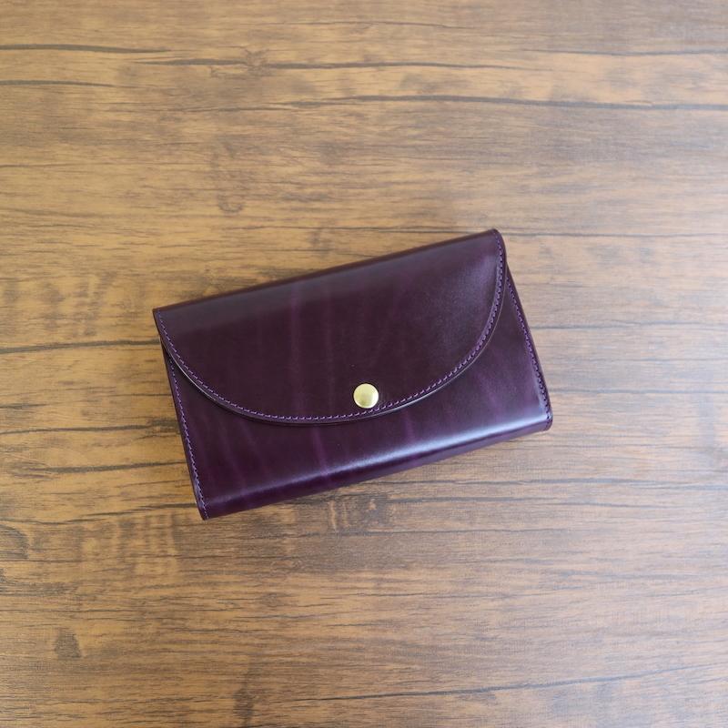 diyplus カードたくさん入る長財布レディース、メンズ 19秋冬 革の宝石 ルガトー 本革 カード大容量収納モデル パープル マチ4.5cm×横18.5cm×高さ10.5cm 400plor