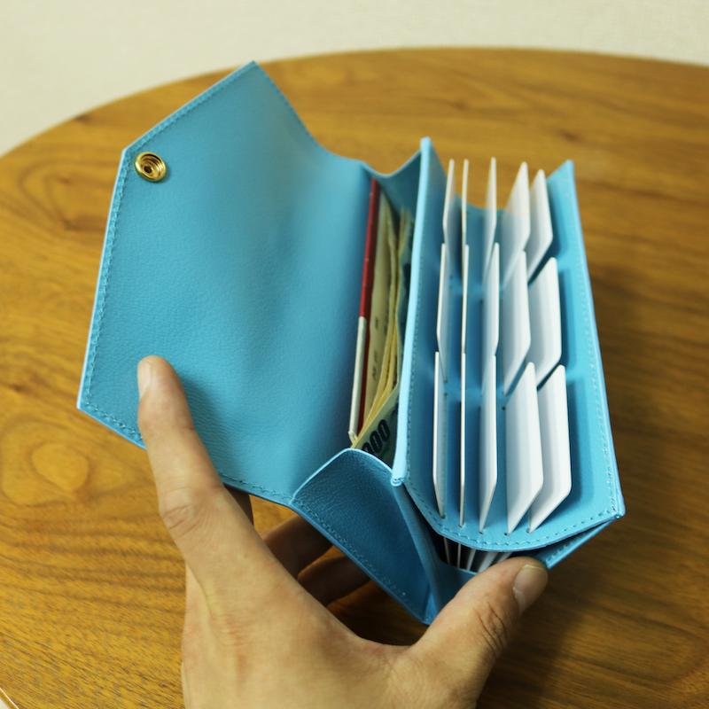 本革 カードケース 薄型 メンズ レディース 大容量 スリム ポイントカード 革 カード入れ カードホルダー ブランド ライトブルー カード大容量 送料無料 大人可愛い かわいい 人気 シンプル セット 母の日 春財布 日本製 Pat. Card D.I.Y plus