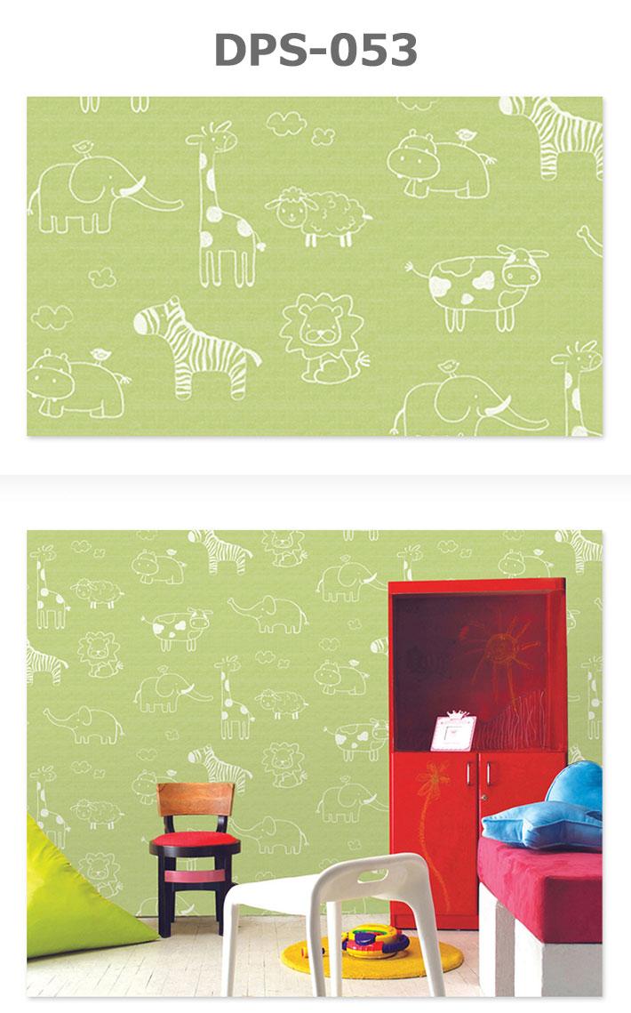 安い のり付き シート お得な壁紙30mセット 動物柄の貼って