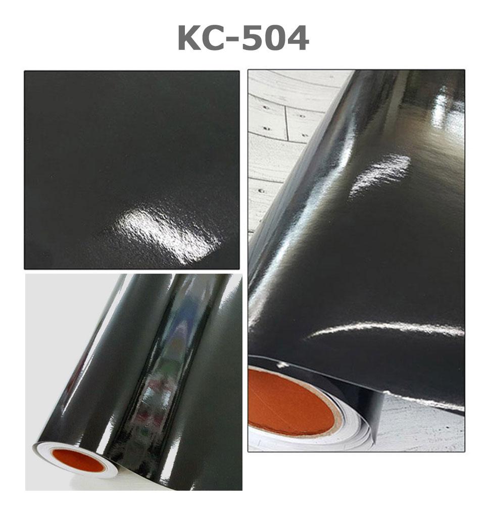 即日発送 黒無地 シール 壁紙 光沢ブラックの貼ってはがせる壁紙