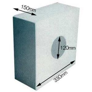 <title>耐久力 耐火性 防火性能の高いALCメガネ石です ALCメガネ石 120×330×150 送料無料お手入れ要らず</title>