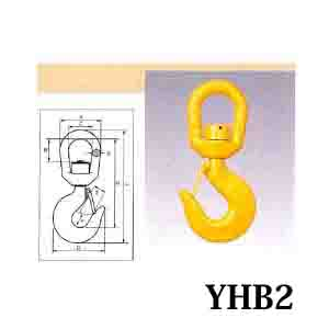 HHH スイベルフック ラッチ付 ベアリング入 YHB2