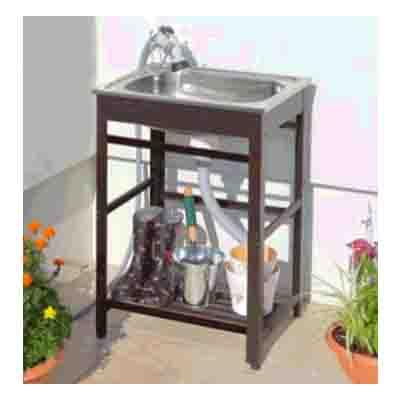 2020秋冬新作 高級な 庭先などでの洗い物に最適な流し台です アルミ流し台50 AND-50 キッチン シンク