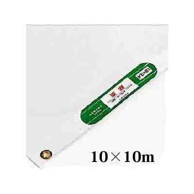 【送料無料】萩原工業 PEポリエチレン防炎シート 10m×10m ハトメピッチ450 取寄せ品