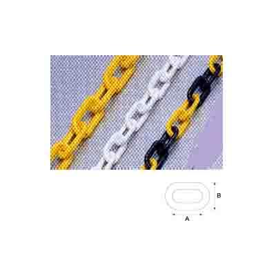 PE プラスチックチェーン #6×50m ポリBOX入  別色