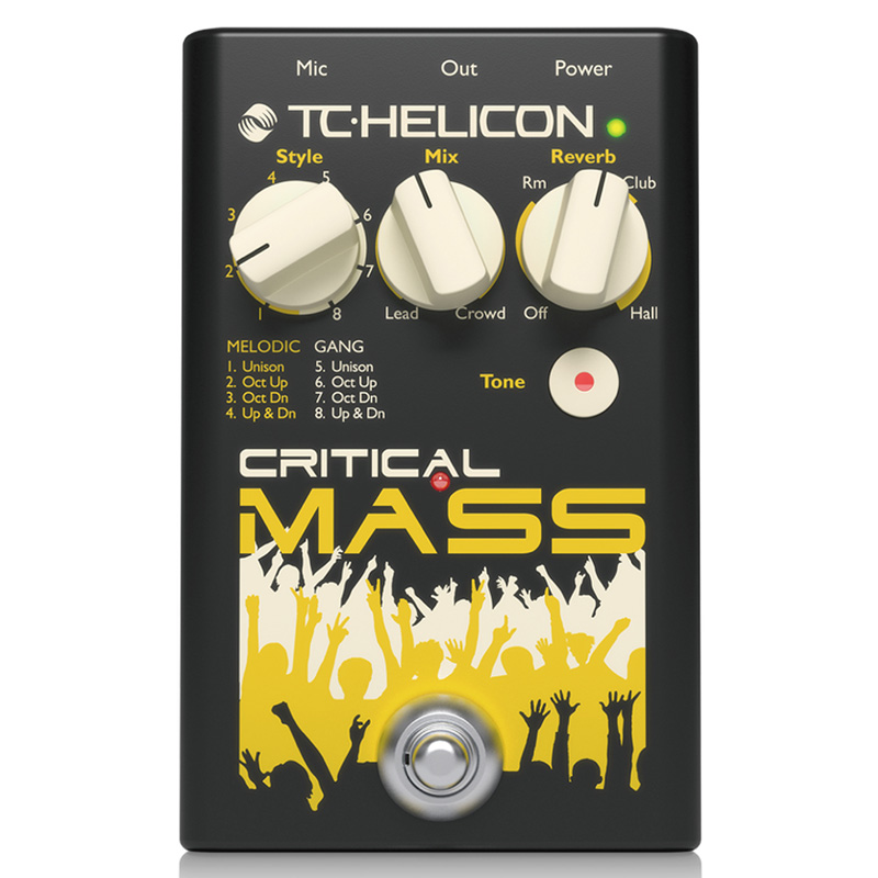 TC helicon CRITICAL MASS【メーカー保証3年間に!延長保証キャンペーン実施中!(※要WEB製品登録)】