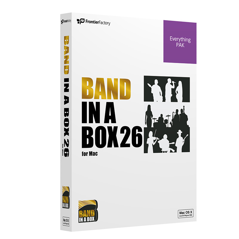 PG Music Band-in-a-Box 26 for Mac EverythingPAK